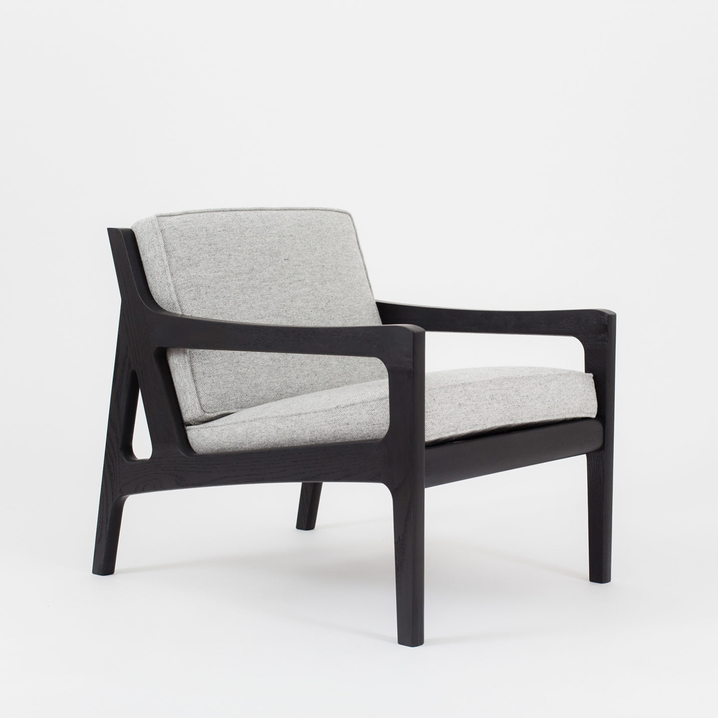 Upholstered Wood Lounge Chair Designed By Asa Pingree