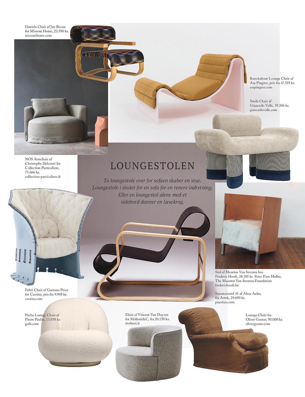 Lounge Stoel Gebruikt.Press Asa Pingree